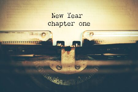New year chapter one on paper Stok Fotoğraf - 129831557
