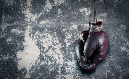 box glove on gray background Фото со стока