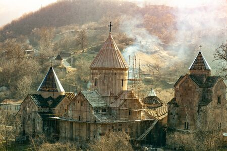 Goshavank church in autumn in Armenia