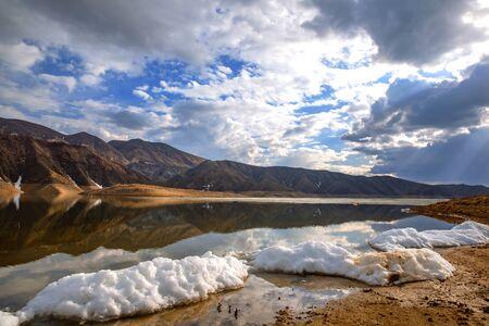 Beautiful  lake in mountain