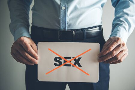man hand no sex text on page