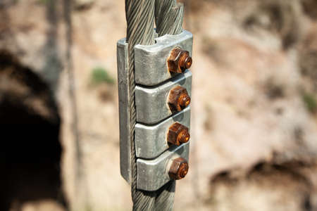 the cable holder in the nature background