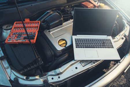 Computer on the car for the diagnostic