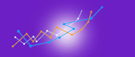 business graph growth in the digital screen