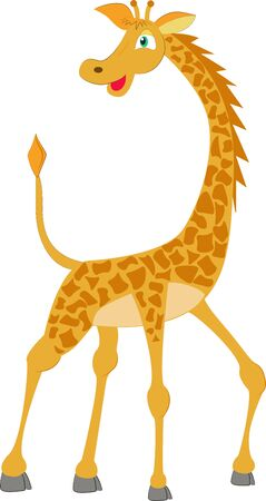 drawn fiiraf in natural colors, wild animal of africa Ilustración de vector