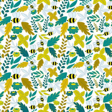 Seamless background in green and yellow colors.