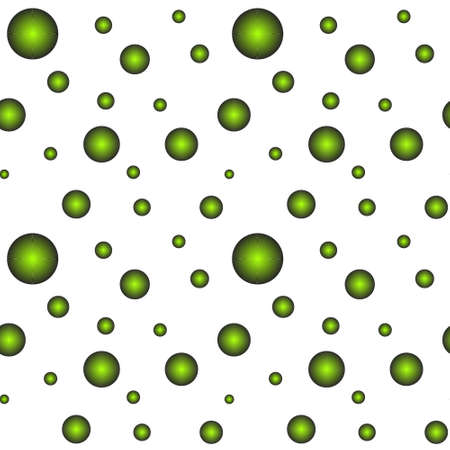 Seamless background with green balloons of different sizes. Balloons.
