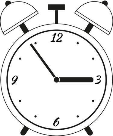 Isolated alarm clock on a white background. Vector simple