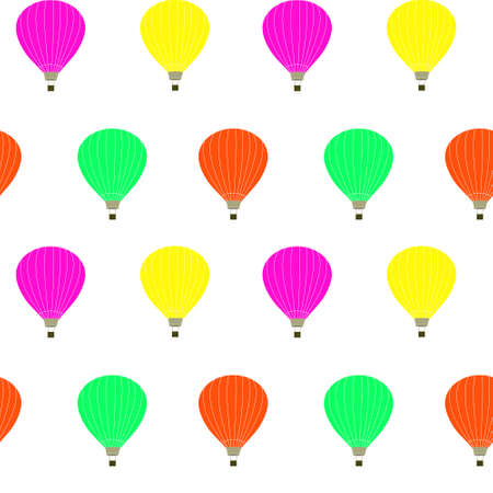 Seamless pattern with balloons for flight. Multicolored bright balloons, repeating continuous pattern.Vector.