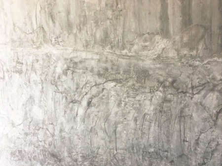 Gray concrete wall with grunge for abstract background. Standard-Bild