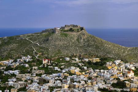 ギリシャ レロス島の城のマドンナ