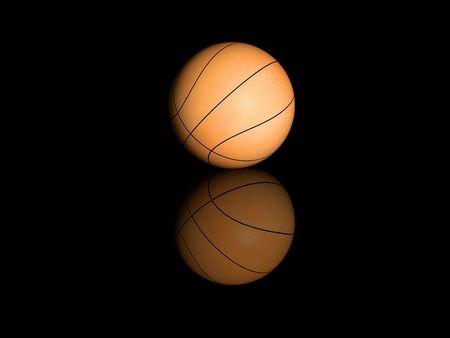 Basketball isolated on black background