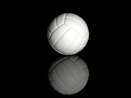volleyball isolated on black background Stock Photo