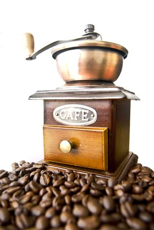 Old-fashioned coffee grinder  Stock Photo