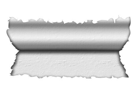 isolated white broken paper