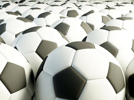 a lot of soccer balls