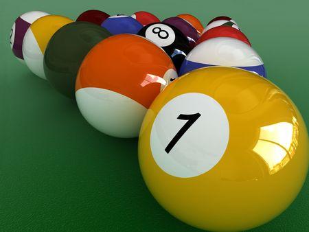 poolball: close up billiard balls