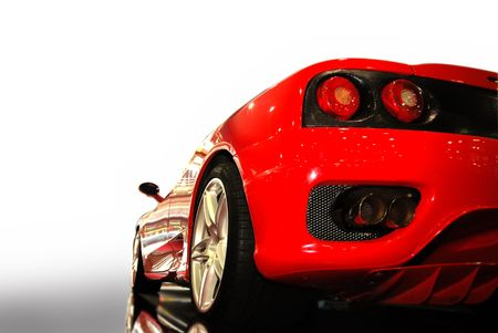 shot  of a  red sports car (ferrari)  Editorial