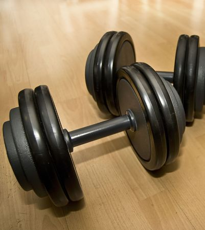 weights, dumbells in the gym photo