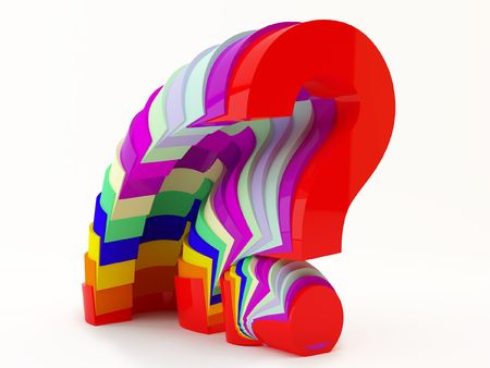 So many questions of different colors,  having a lot of doubts  Stock Photo
