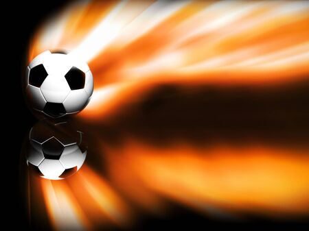 Soccer ball isolated on Black Stock Photo