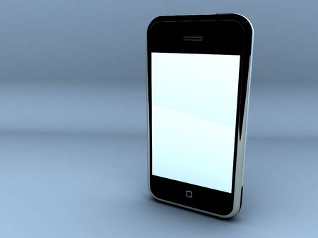 render of a touch screen cellphone.