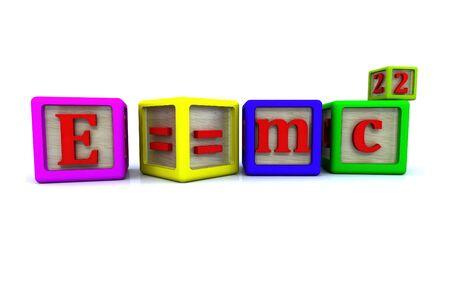 einstein: Mass energy equivalence. Einstein famous formula isolated.
