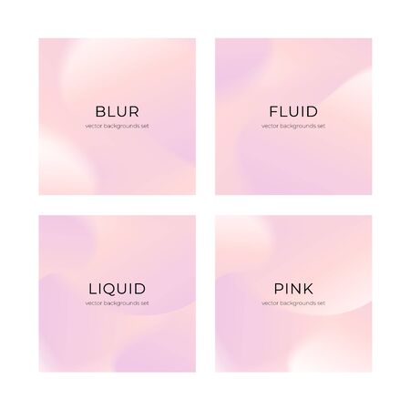 Vector social media square grid background set. Pink abstract shape backdrop. Romantic mood, holiday flowers concept. Design for social media post, ad, announcement of winner, voucher.