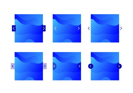 Vector ui background slider template. Modern fluid colorful blue gradient shapes isolated on white background. Design element for phone site, backdrop, interface.