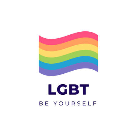 Lgbtq pride month flag concept.
