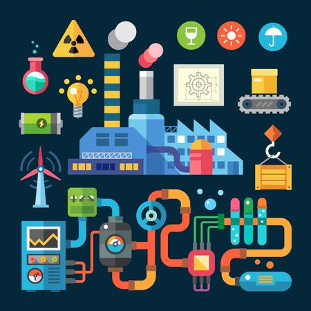 Fábrica e proteção do meio ambiente Banco de Imagens
