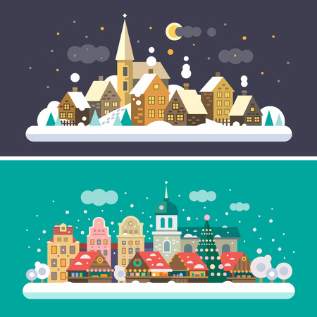 villages: Christmas time. Urban and Village landscapes