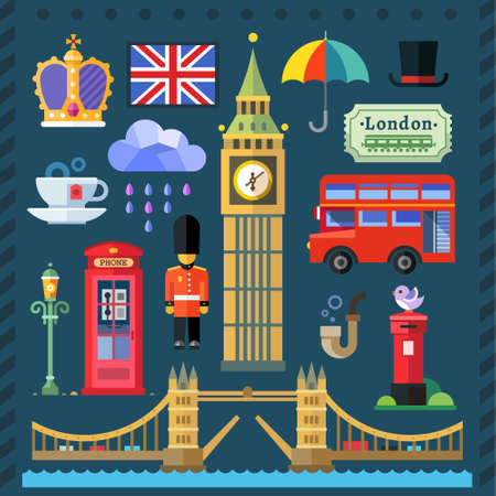 big ben tower: Great Britain Kingdom London Capital Illustration