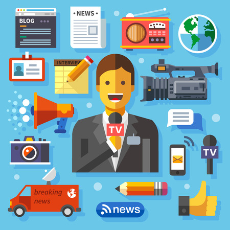 news icon: Illustrations modern information technology and news Illustration