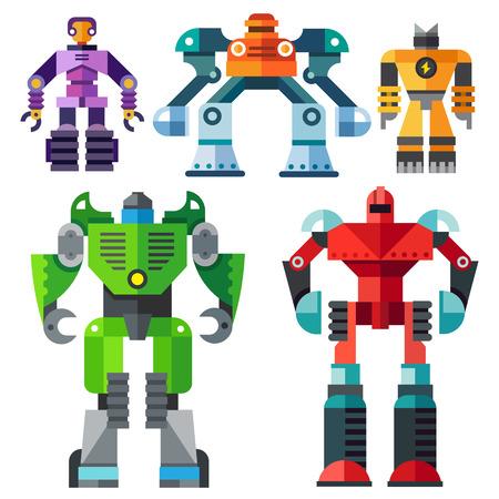 Modern transformer robots Vectores