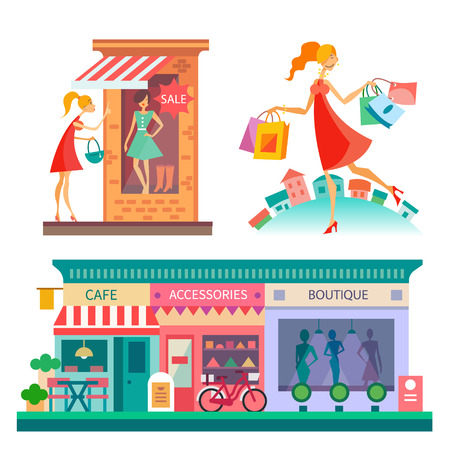 fashion boutique: shopping center