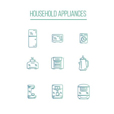kitchen appliances: Kitchen Appliances icons white background