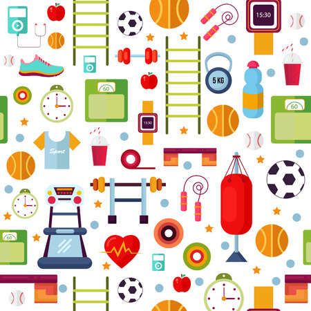 sports equipment: sports equipment white background illustration Illustration