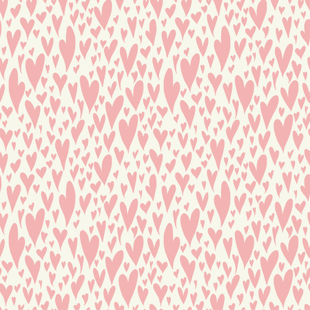 14 february: Valentine seamless pattern with bright colorful hearts. 14 February. Valentines Day background. Illustration