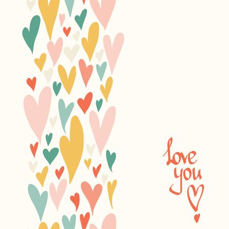wallpaper  eps 10: Valentine seamless pattern with bright colorful hearts. 14 February. Valentines Day background. Illustration