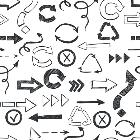 checkboxes: Seamless pattern with checkmarks and checkboxes drawn in a doodled style.