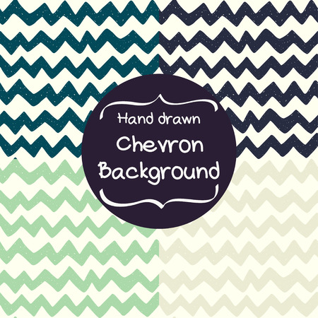 chevron background: Set of four seamless pattern with hand drawn zigzag. Doodle chevron background. Tiling geometric texture. Wallpaper for web page.