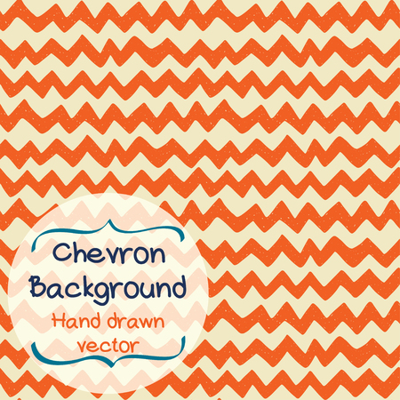 chevron background: Seamless pattern with hand drawn zig zag. Doodle chevron background. Geometric texture. Wallpaper for web page. Illustration