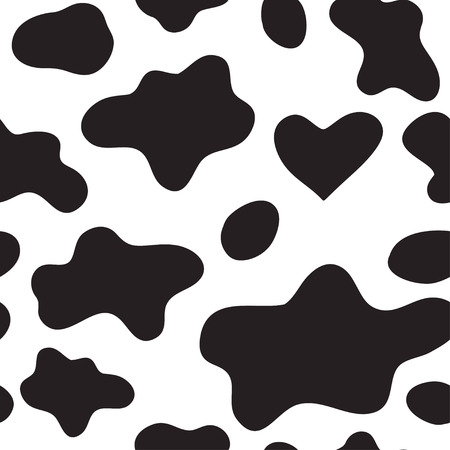 Abstract animal background. Cow seamless pattern. Vettoriali