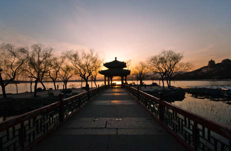 summer palace: zhichun pavilion Stock Photo