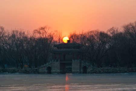 kunming: the Kunming lake sunset