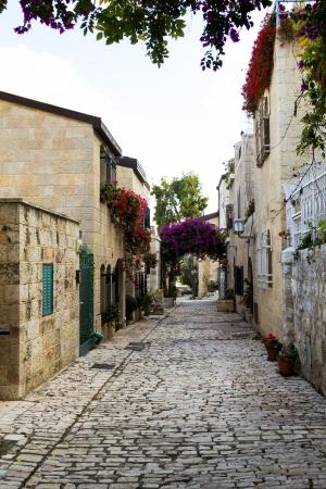 Beautiful area of old restored Jerusalem photo
