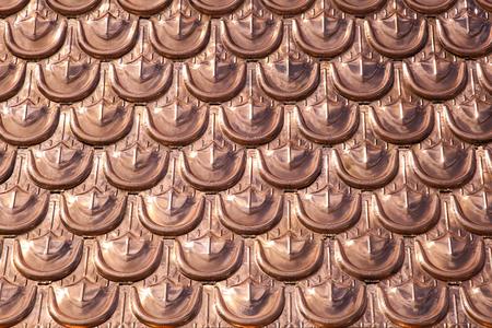 shingles: Tejas del techo textura hecha de metal de cobre