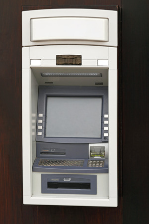 automated teller: Automated Teller Machine With Keyboard Stock Photo