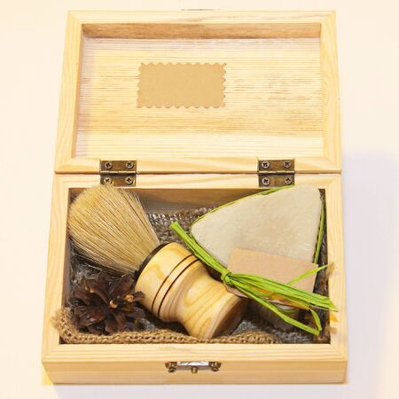shave: Traditional style barber brush and shave soap set